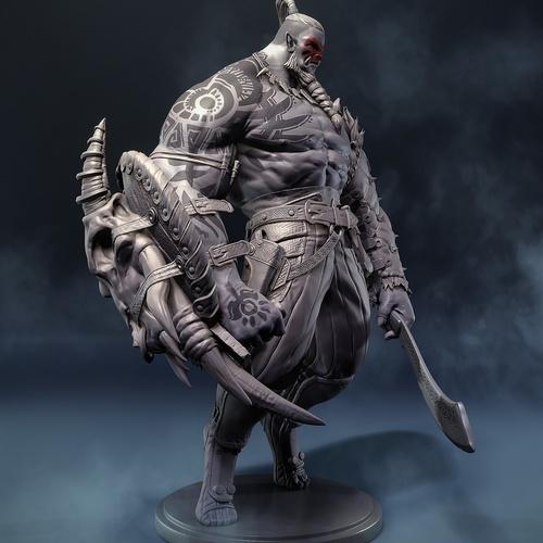 big battle orc armour 3d render model