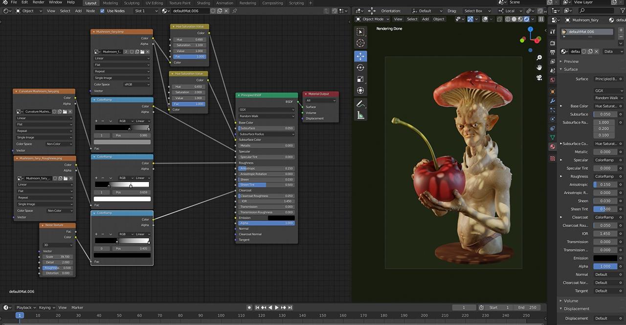 editing shaders 3d model blender
