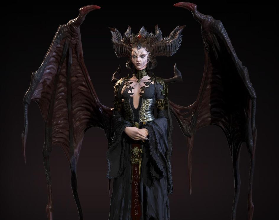 Lilith(Diablo4 Fanart)by RakibHasan