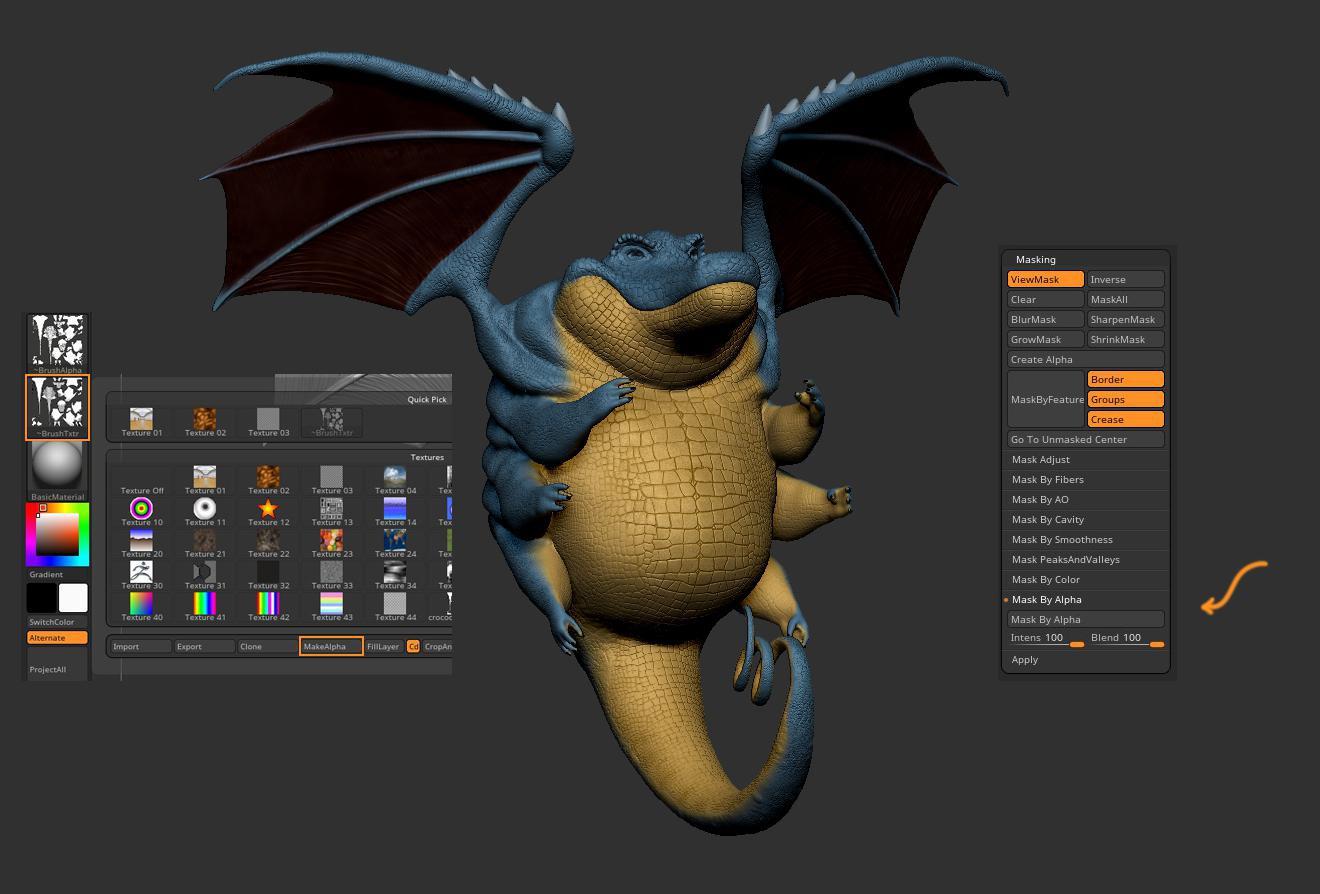 texturing 3d model sculpt
