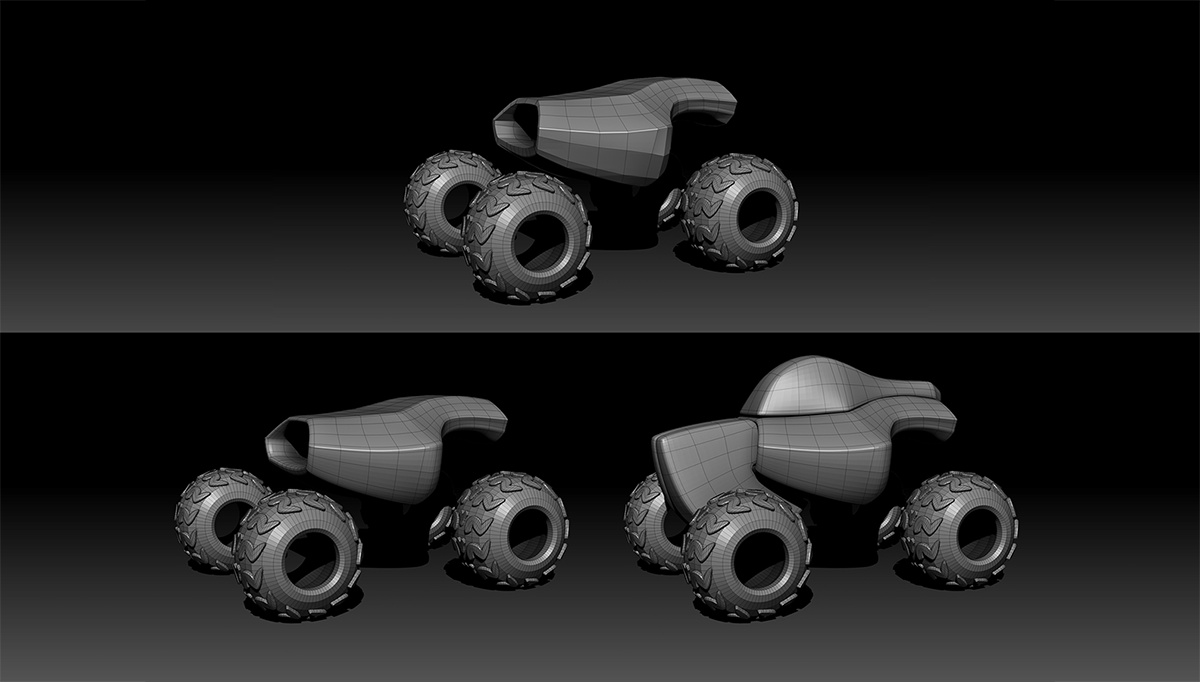 geometry ZModeler Dynamic Subdivision vehicle rendering 3d