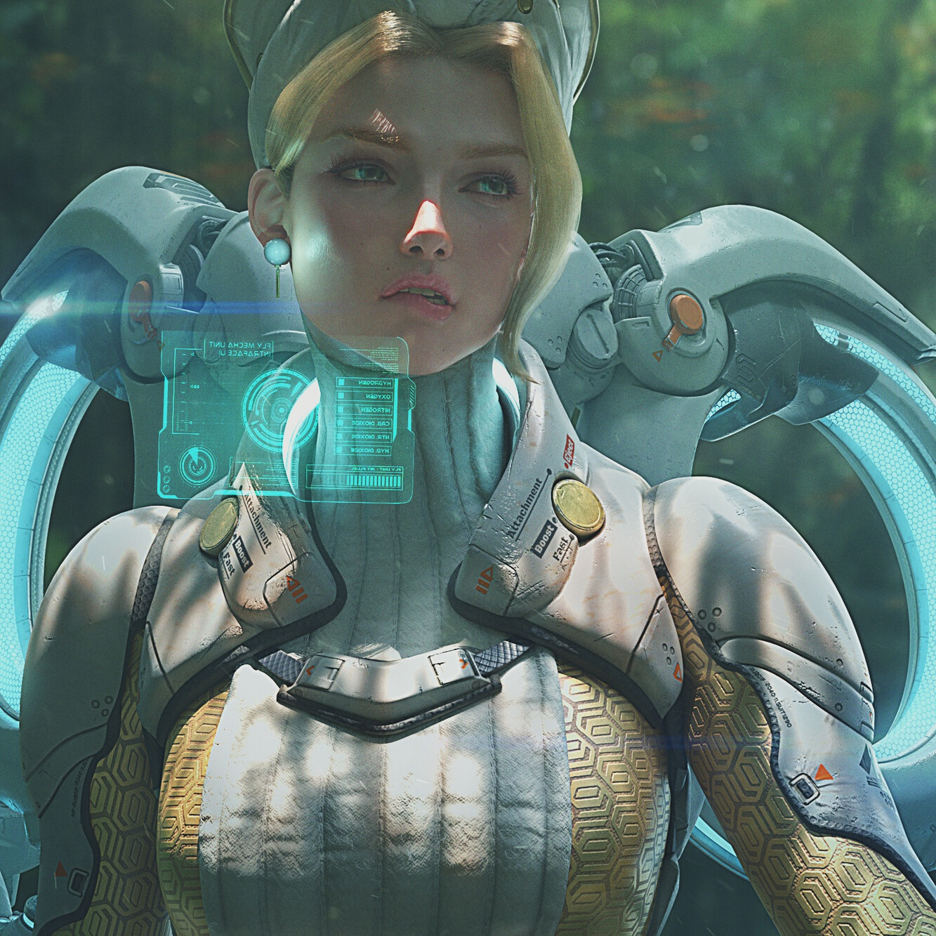 mercy overwatch inspired original character  model sculpt 3d