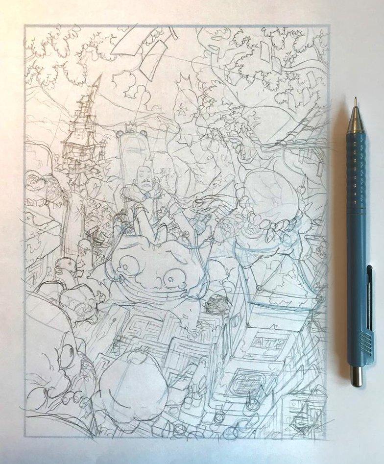 Igor Wolski final sketch narrative illustration