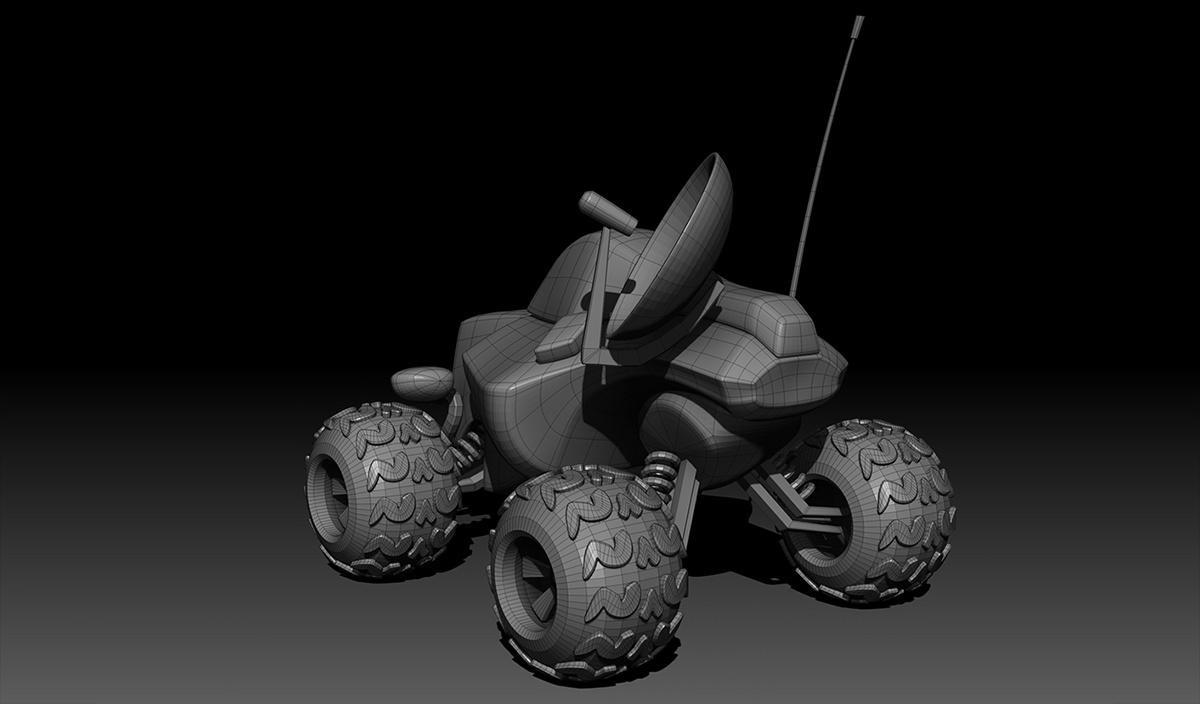 detailing rendering vehicle machinery space sci-fi machine
