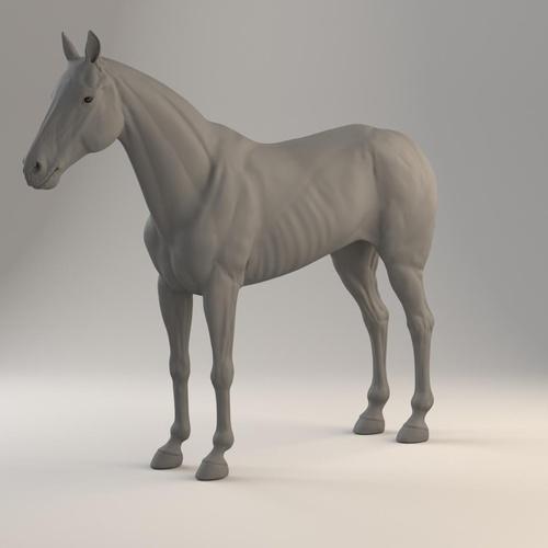 horse clay render