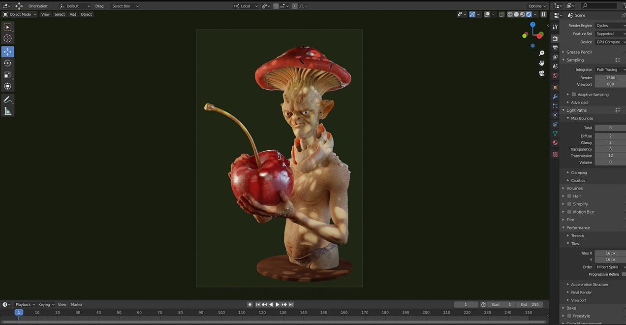 rendering 3d model FOC image character design