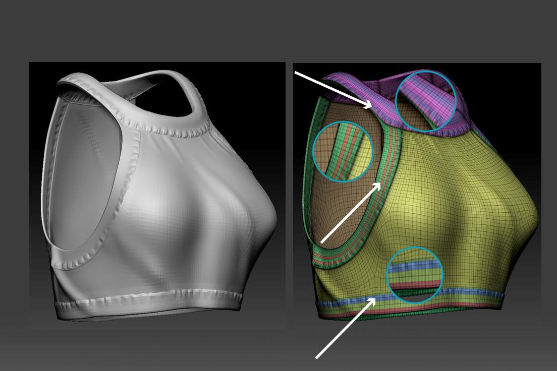 clothing materials detailing 3d modeling