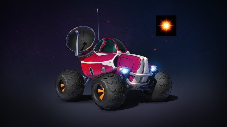 buggy vehicle 3d model stylised car sci-fi prop design texture