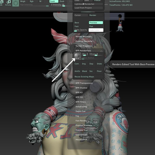 3d modeling specifics zbrush