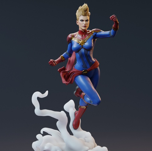 captain marvel superhero flying