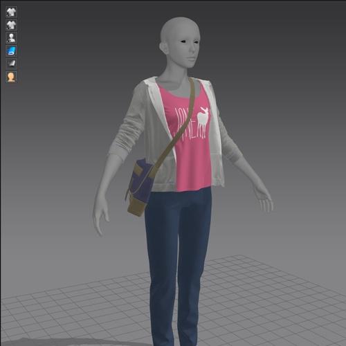 3d model clothing render