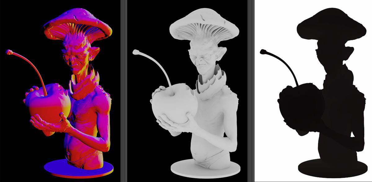 HDR format passes rendering 3d modeling