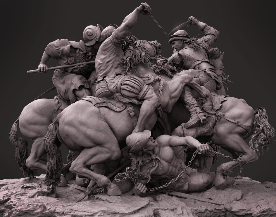 "The Battle of Anghiari "" Leonardo da Vinci ""by farzad maleki"