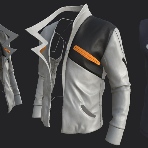 jacket design model 3d render design