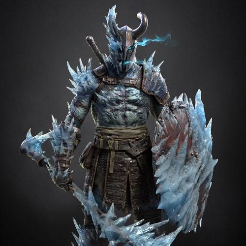 ice golem 3d model character