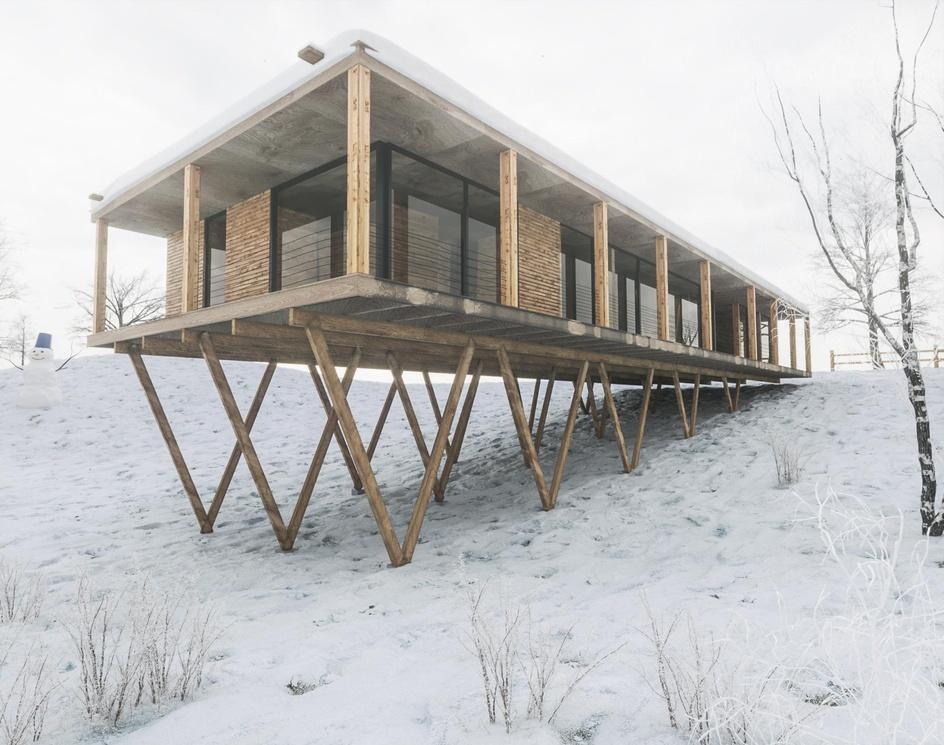 Villa in the snowby alifarvardin