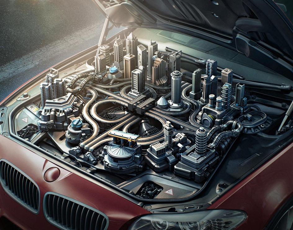 Shell FuelSave Car Engineby Aleks_cg