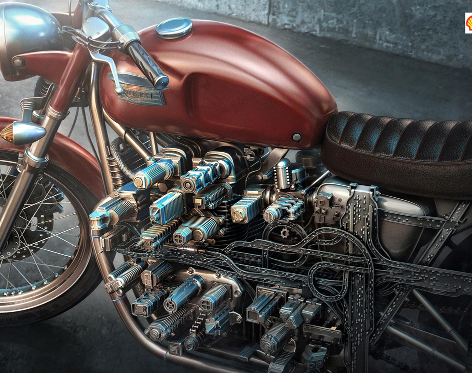 Shell FuelSave Motorcycle Engineby Aleks_cg