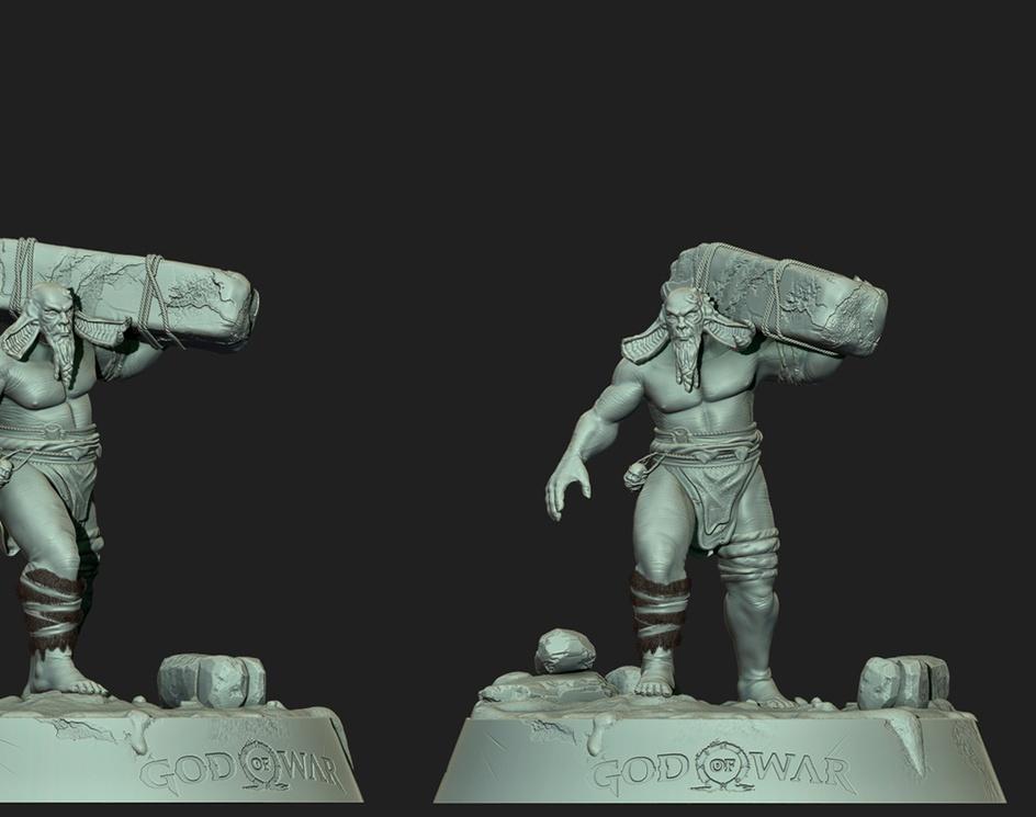 God of war (Troll) - (FanArt)by Erick Tello Pernia