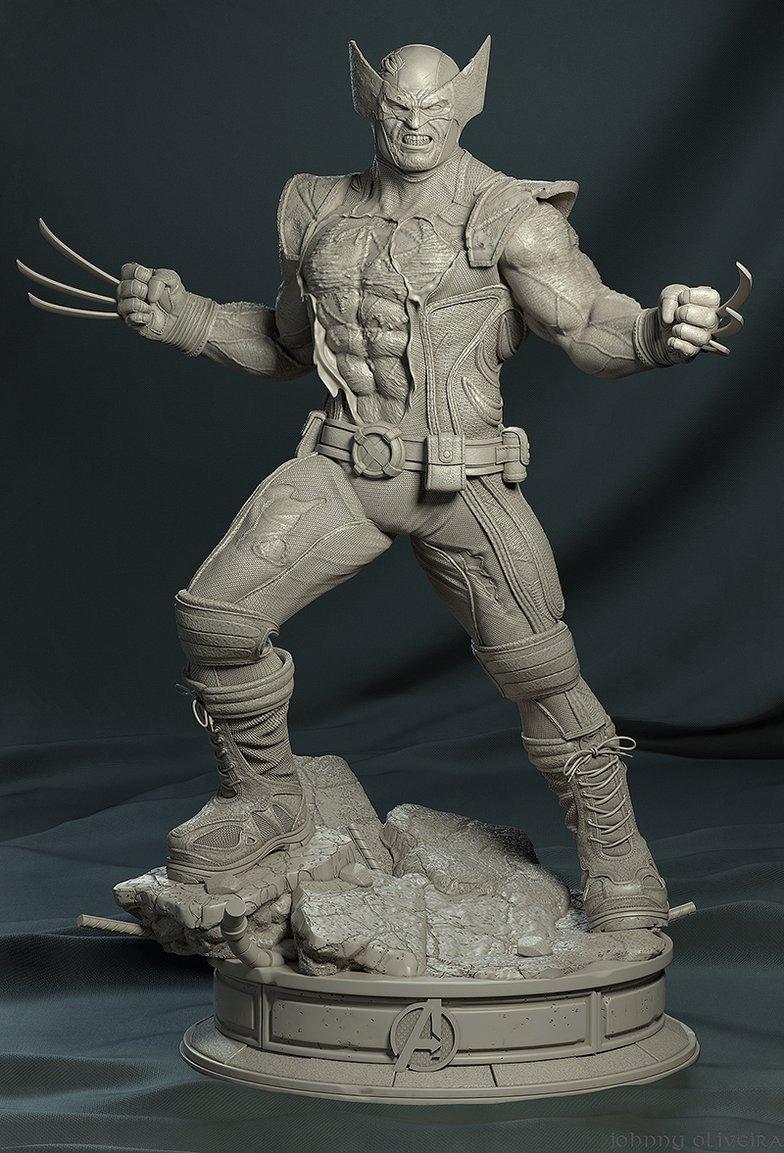 wolverine statue design