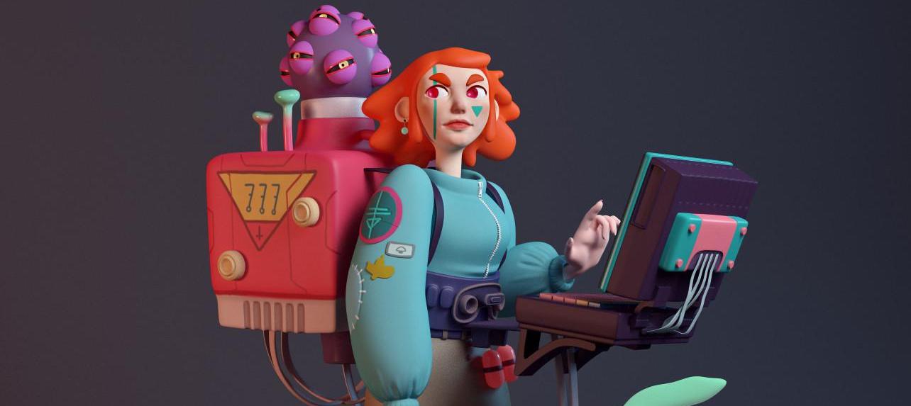 Giulia Marchetti 3d character cartoon
