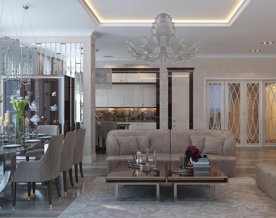 Living room interior in classic styleby Archviz.Studio