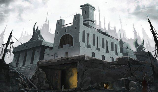grey stone temple