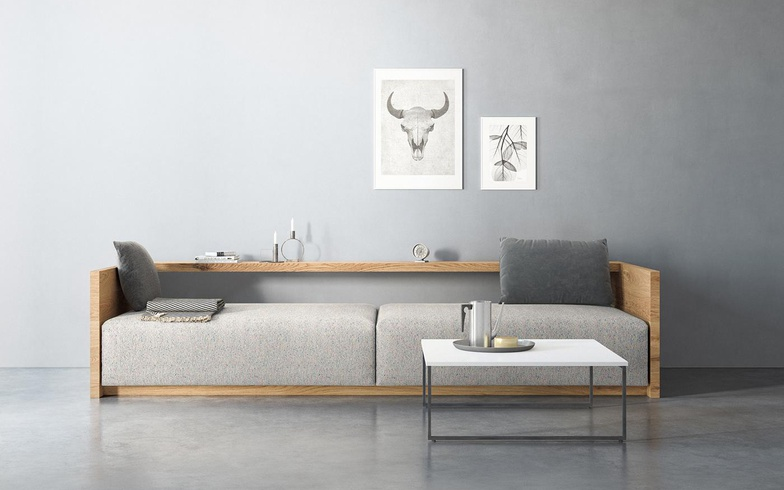 grey sofa 3d render