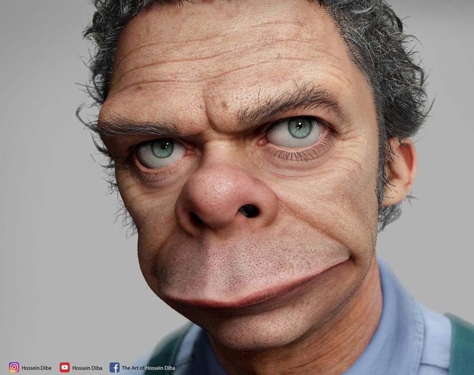 3D Model of Moe Szyslak(Real time)by Hossein_Diba