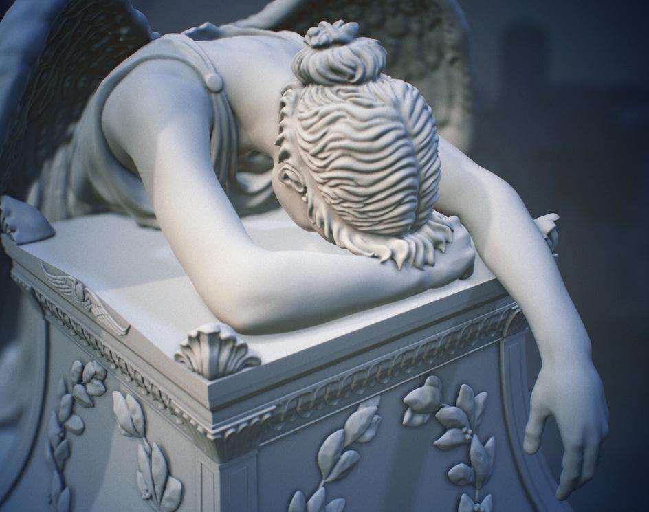 Angel of Grief 3d sculpture for 3d printby Anastasia Ryzhkova