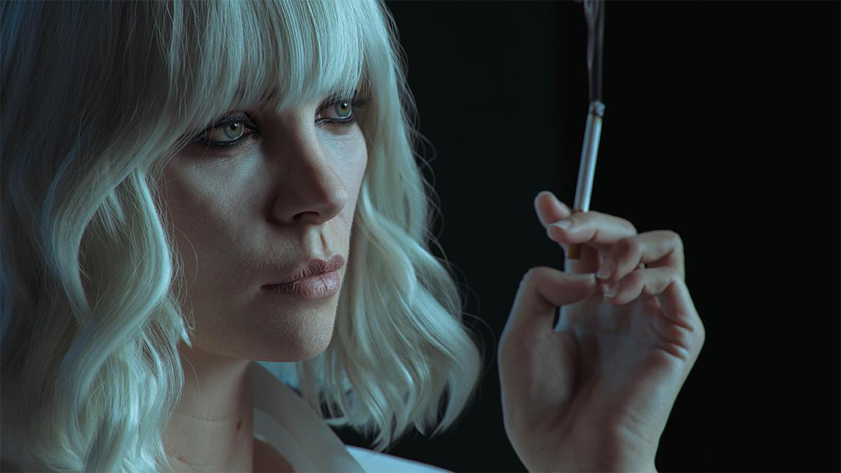 charlize theron lorraine broughton atomic blonde 3d model