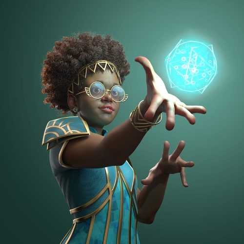 character design mage magical render fantasy 3d