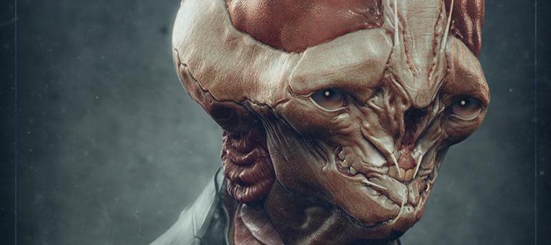 alien portrait 3d art