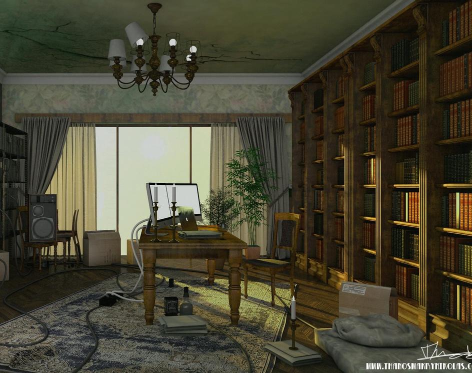 Hacker library interiorby Thanos Makrynikolas