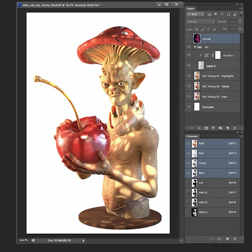 compositing in photoshop pixels green