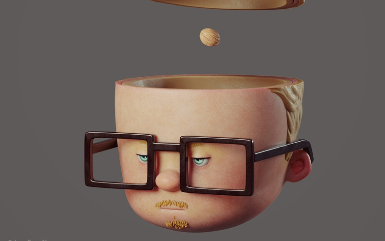 blonde man with glasses animated