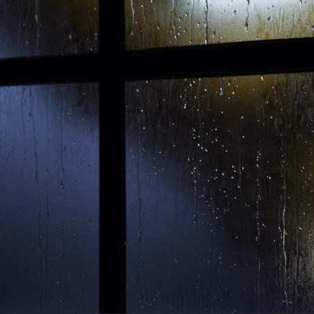 window close up raining weather visual effects