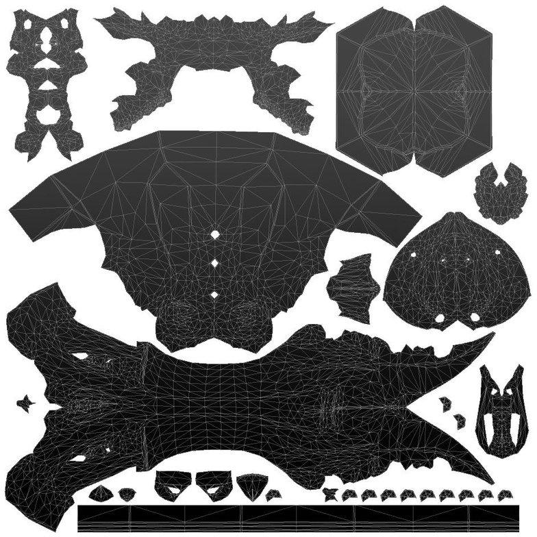 Alexandr Novitskiy fantasy skull warhammer topology UV