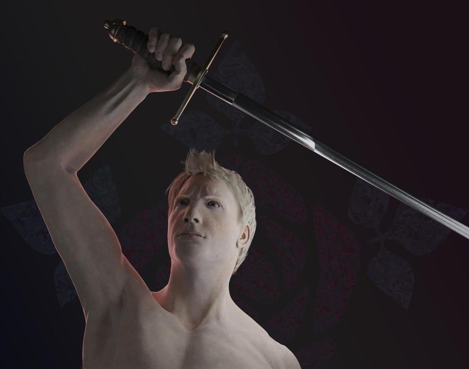 Symbolic 3D Image of Medieval Knight without Armorby Anastasia Ryzhkova
