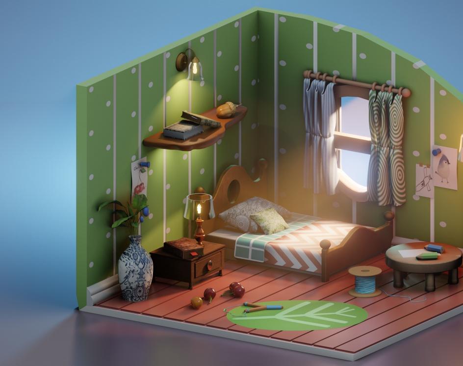 Lil Artist's Bedroomby Burak Gök