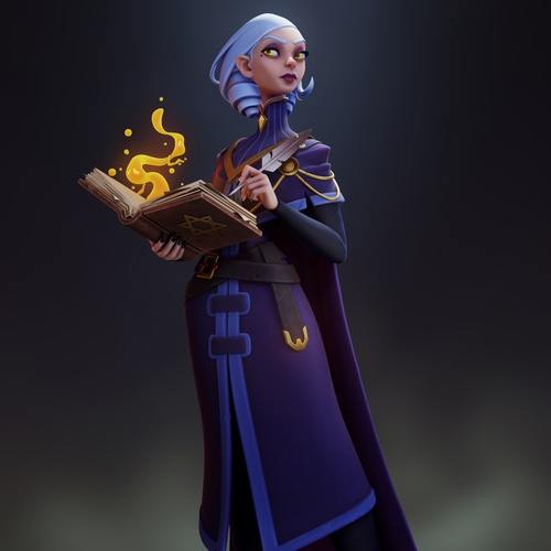 female sorceress magical being