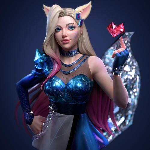 ahri k/da musical animated character design league of legends