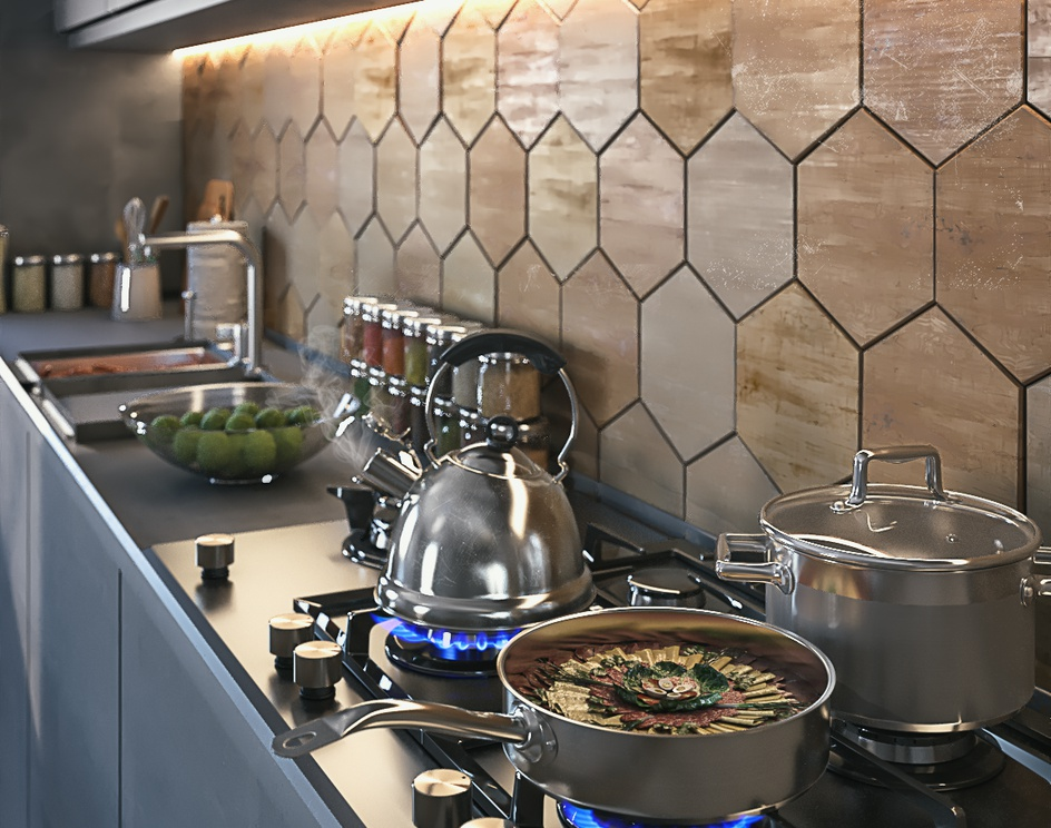 Gray kitchenby behrooz