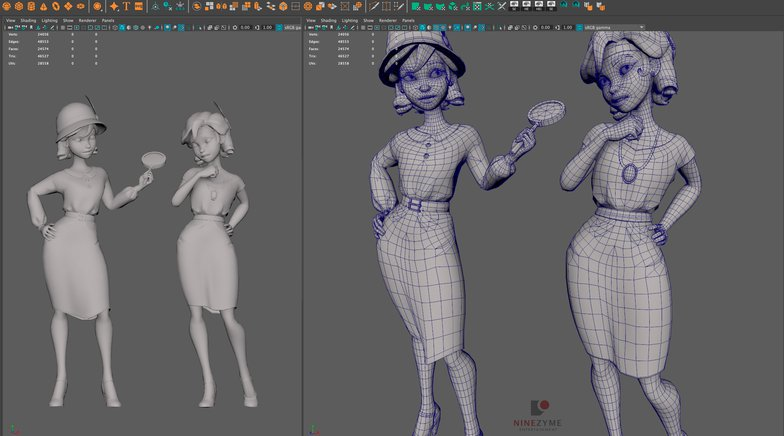 maya female figure zbrush