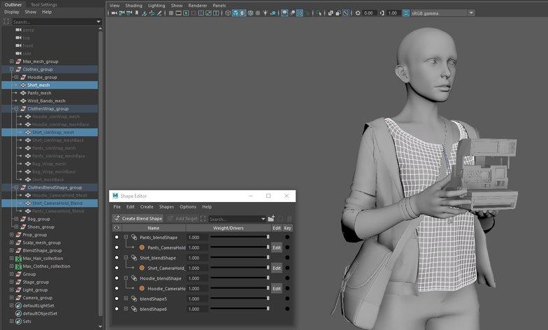 rendering 3d clothes