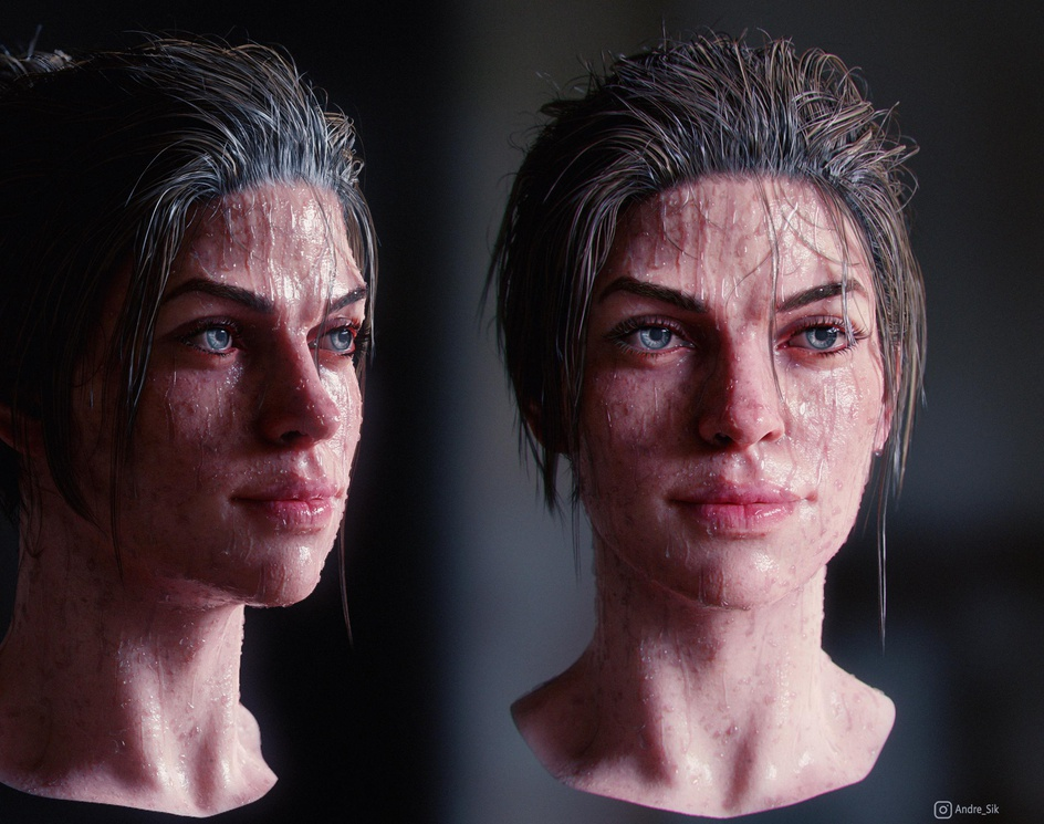 Ingrid - Head study (1/3)by Andre_SiK