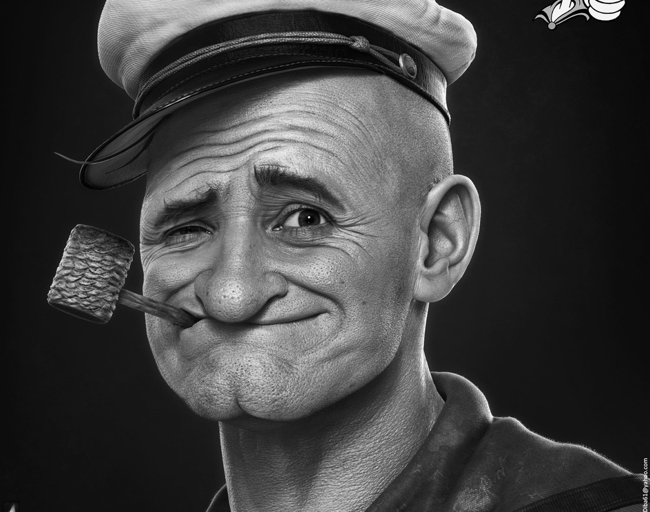 Popeye The Sailor Manby Hossein_Diba
