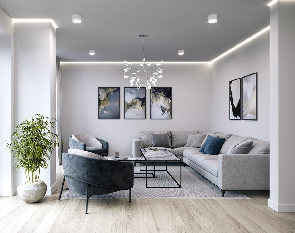 """Interior visualization of the """"Melampus"""" residential complex, Heppenheim.by Render Vision"""