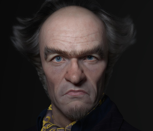 count olaf lemony snicket book character model design