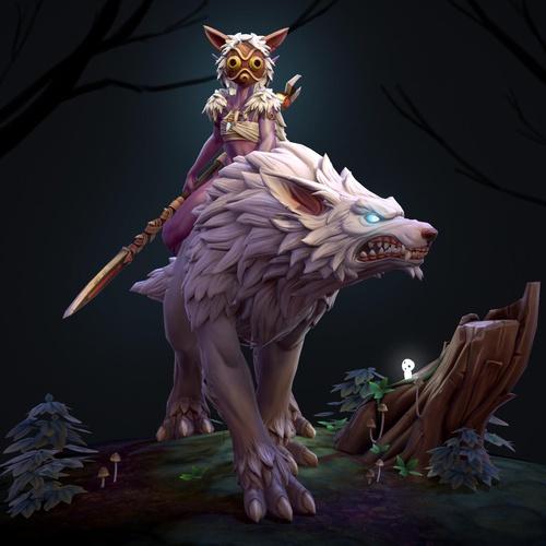 anime princess mononoke warrior studio Ghibli fan art